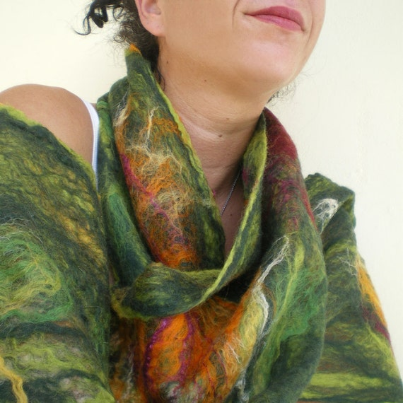 cobweb felted scarf -can't get enough of your love-