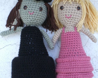 Wicked dolls Galinda and Elphaba- Two Best Friends