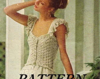 Crocheted pattern - camisole - instant download PDF pattern