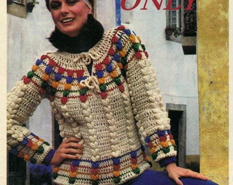 Instant download crochet pattern - women's pullover - pdf pattern