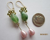 Green & Pink Bracelet w/ earrings