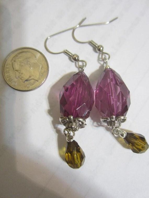 Purple Gem Earrings