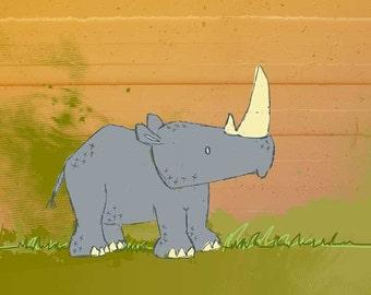 Rhino - 8x10 Print