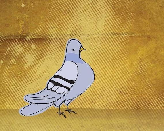 Pigeon 8x10 Print City Art Urban Nursery Wall Art Baby