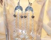 White Amethyst Earrings: Himalaya Snow