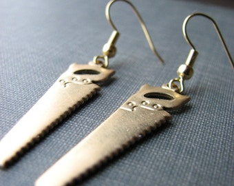 hand saw earrings