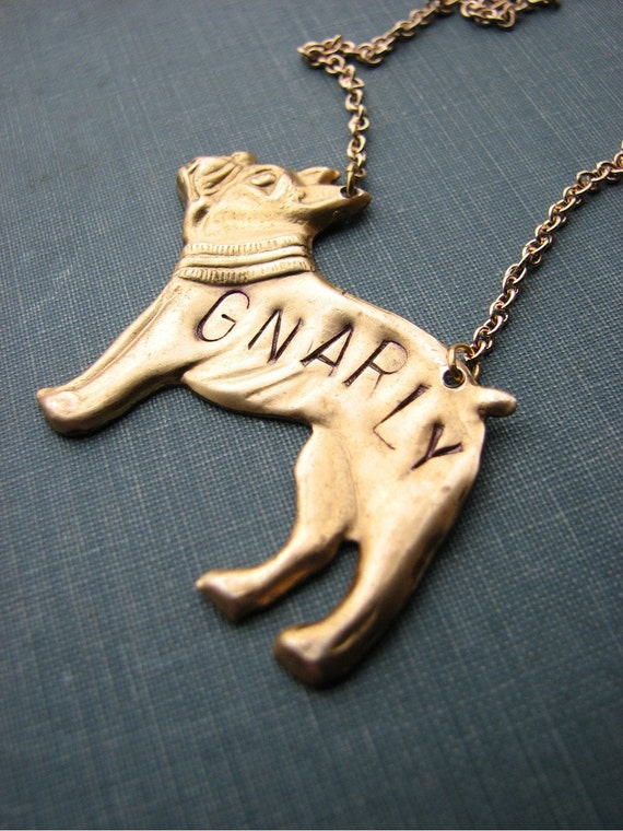 personalized dog necklace - custom boston terrier jewelry - As seen on PopSugar