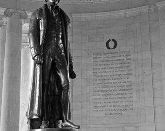 Washington DC Art - Jefferson, Fine Art Black and White Photography, Washington DC Photography, Washington DC Print