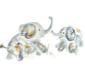 Baby Nursery Art, Jungle Nursery Art, Baby decor, gift for new mom, Jungle Nursery Decor, Baby Shower Gift, elephant art, Elephant Nursery