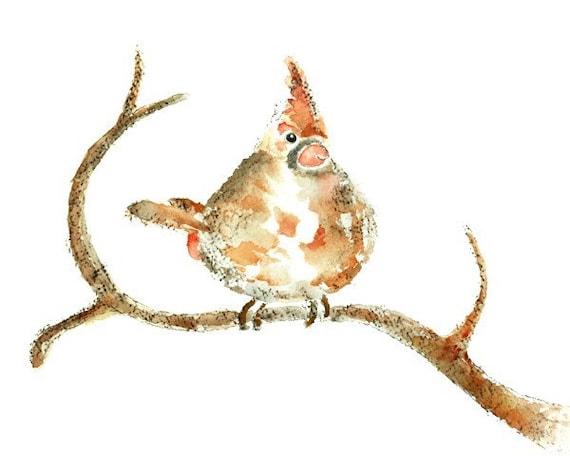 Cardinal Print, Cardinal Painting, Winter Art, Winter Decor, Red, Bird Print, Watercolor Bird, Painting, Cardinal Picture