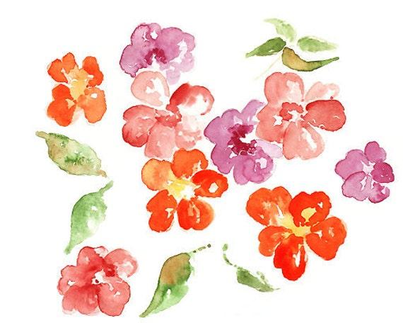 Bathroom decor, bathroom print, watercolor flower print, spring decor, Flower Art Print, Bathroom Wall Art, purple