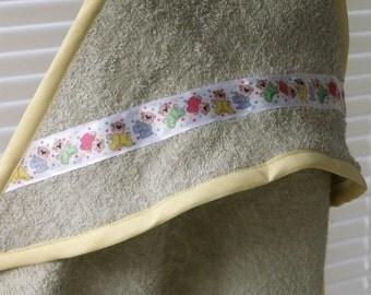 Custom Made Hooded Bath Towel for Babies