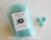 ROVING. Small Pack of Robin's Egg Blue Roving