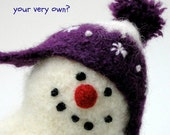 HAND-KNIT CUSTOM. A Woolly Snowman of Your Very Own.