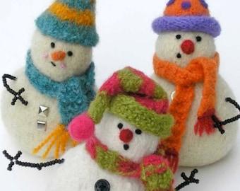 PATTERN-BOOKLET. A Knit & Felt Wool Snowbaby Pattern