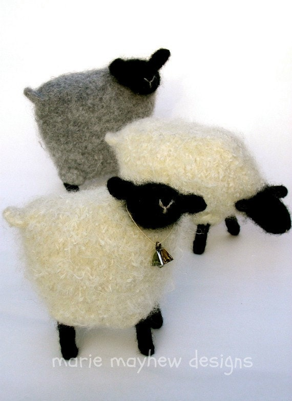 PATTERN-BOOKLET-Plus. A Knit & Felt Wool Sheep Pattern AND A Sheep Materials Kit