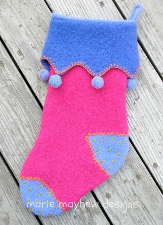PATTERN-BOOKLET. A Knit & Felt Victorian Holiday Stocking Pattern