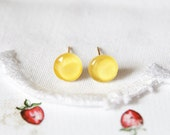 You're my Sunshine - Bright Yellow Mini MIni Post Stud Earrings - Nickel FREE (N015)