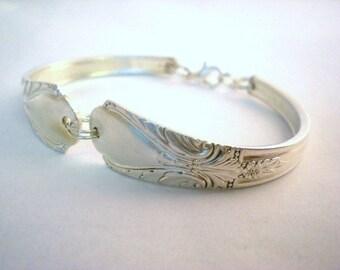 Spoon Bracelet, Bridesmaid Bracelet, Bridal Jewelry, Custom Vintage Silverware, FREE ENGRAVING, Bridal Jewelry, Bridesmaid Gift  AVALON 1940