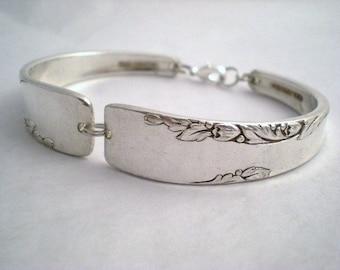 Spoon Bracelet Wedding Bridesmaid Bracelets FREE ENGRAVING Vintage Silverware Jewelry Silver - PROPOSAL 1954