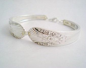 Spoon Bracelet,  Vintage Silverware Jewelry, Vintage Wedding MARIGOLD 1935