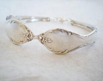 Spoon Bracelet, FREE ENGRAVING, Silverware Bracelet, Vintage Bridesmaid Bracelet , Jewelry, Vintage Wedding, Bridesmaid Gift  MELODY 1964