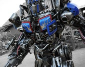Dieselpunk Recycled Metal Brave Giant Robot (made-to-order)