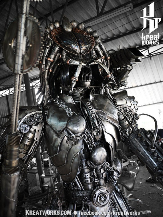 Steampunk Recycled Metal Brutal Hunter (made-to-order)