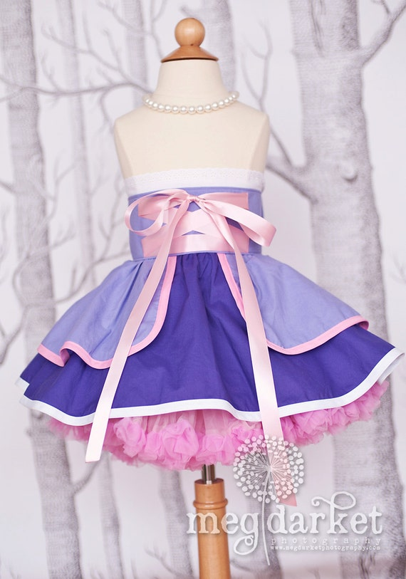 Rapunzel inspired Dress Up Costume Apron...Half Apron style...Made to Order