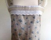 SALE Camisole Top Victorian Womens Repro Vintage Prairie Floral  - Size Medium