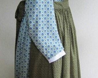 Civil War Dress Reenactor Victorian Reproduction Apron Historical  - Size Medium