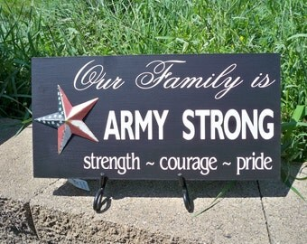 Army signs, Army Strong, Military Sign, Army Sign, Army Family, Family Sign, American Flag, Star Sign, Custom Sign, Miliatry Gift, Army Gift