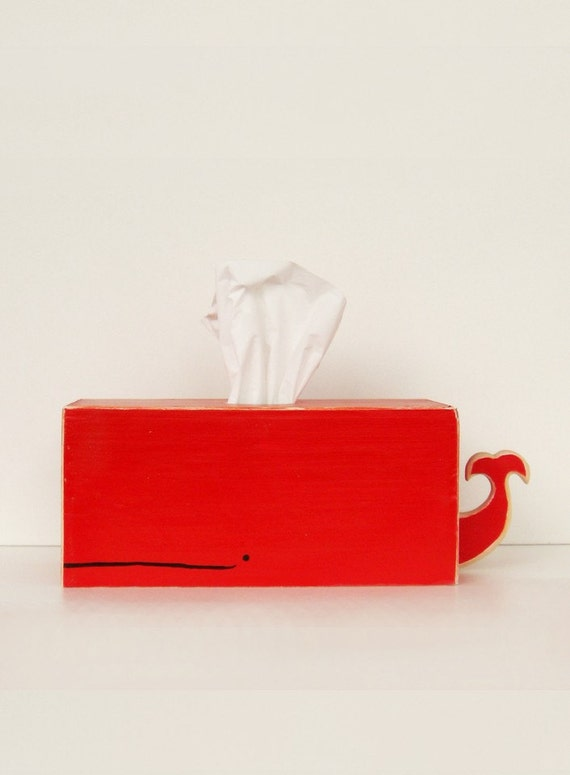 Whale Tissue Holder - Red - Ships Jan 7th.
