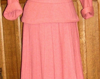 Cozy SALE 25% 0FF 2 Piece Rosey Pink Knit Collegiate Outfit 1940's Was 75.00 Now 56.25