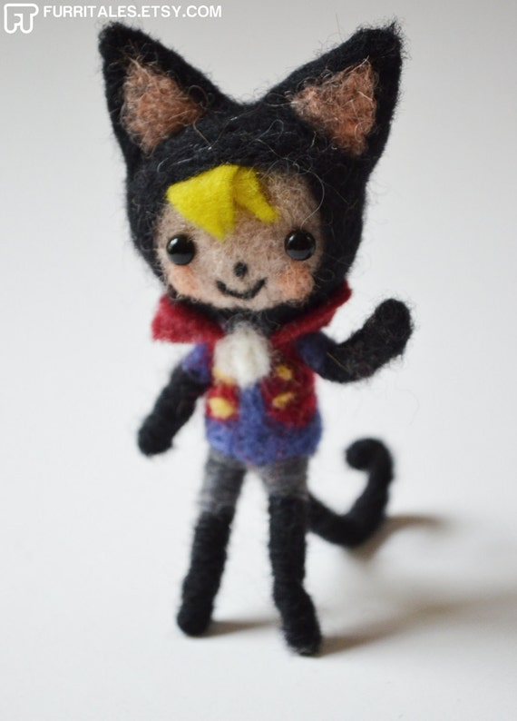 Dempsy, Needle Felted Kitty