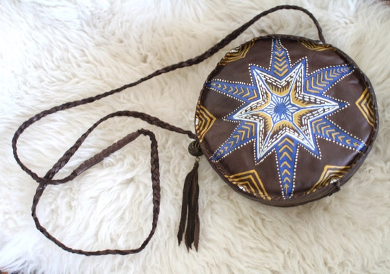 RESERVED - After Midnight Hand Painted Leather Purse