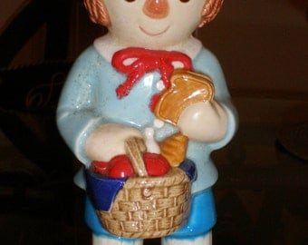 """Raggedy Andy Doll Ceramic Figurine 1984 Marked  Vintage-""""AS-IS"""""""