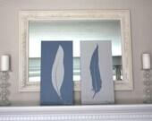 Large Feather Painting // Original Acrylic // Modern Wall Decor