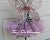 Polka-dot Pink Chocolate Tutu/Hairbow Set - 0-3months, 3-6months, 6-12months, 12-24months, 2T