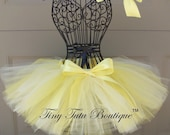 BEAUTY AND the BEAST- yellow infant/child tutu with hairbow:  Newborn-5T
