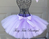 Lovely Lavender- Lavender baby/child tutu with  hairbow:  NEWBORN-5T - TinyTutuBoutique