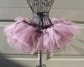 Polka-dot Pink Chocolate child/baby tutu with hairbow:  Newborn-5T