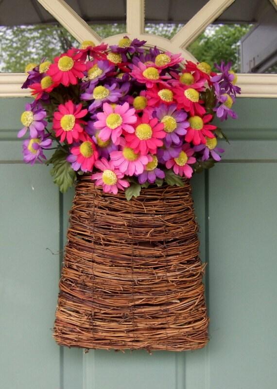 Summer Wreath - Spring Wreath - Mothers Day Wreath - Door Basket