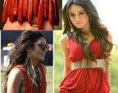 Wide Cuff Bracelet, Red Coral Bracelet, Boho Style, Hippie Bracelet, Chunky Everyday Bracelet, Tribal Inspiration, Bold Beaded Bracelet