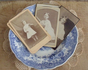 6 Antique Carte de Visit Photos of Children