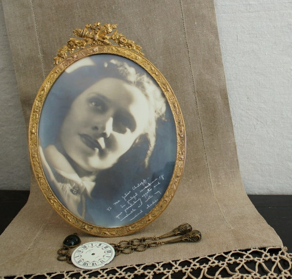 Reserved for Vivianna     -           Antique French Gilt Ormolu Brass Picture Frame