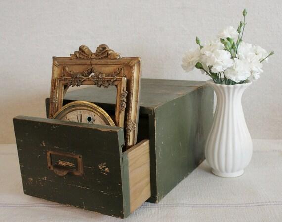 Vintage Industrial Card Index Drawer Cabinet Globe Wernicke