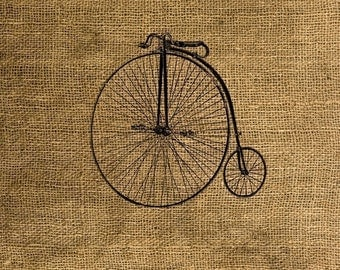 Instant Download - Vintage Bicycle - Download and Print Image Transfer - Digital Sheet by Room29 - Sheet no. 051