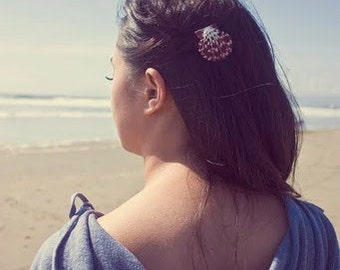 50% OFF SALE Purple Shell Barrette Mermaid Hair Clip Bridesmaid Seashell Sea Ariel Costume Nautical Beach Wedding Accessories Womens Gift