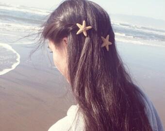 Starfish Hair Clips Mermaid Barrettes Nautical Bridal Bridesmaids Ariel Costume Ocean Sea Stars Destination Beach Wedding Accessories Summer